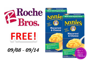 FREE Annie's Macaroni & Cheese at Roche Bros!