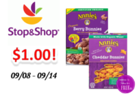 Annie's Organic Cereal or Snacks only $1.00 Stop & Shop!