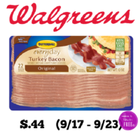 Butterball Turkey Bacon Only $.44 at Walgreen's