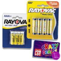 More FREE Rayovac Batteries at Job Lot!! (9/14-20)
