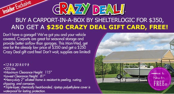 Grab a Carport for only $100!! WOW!!