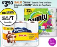 Charmin Essentials Bath Tissue (6 Giant Rolls) Only $2.50 at Dollar General