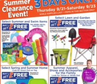 Summer Clearance Buy 1 get 2 FREE at Dollar General
