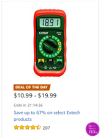 Up to 67% off Extech products, Today Only!