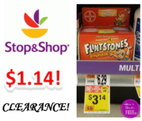 Flintstone Vitamins only $1.14 at Stop & Shop! ~ CLEARANCE