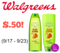Garnier Fructis Shampoo or Conditioner Only $.50 at Walgreen's (9/17 – 9/23)