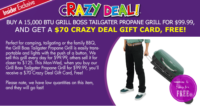 Tailgater Propane Grill UNDER $30 at Job Lot!