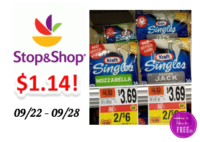 Kraft Cheese only $1.14 at Stop & Shop!