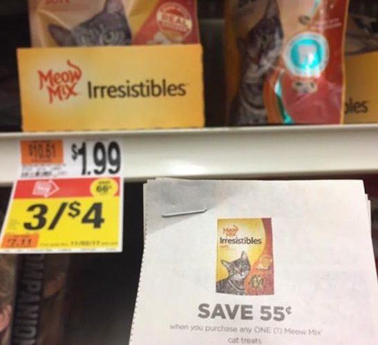 FREE Meow Mix Irresistables thru 10/1 + Money Maker!