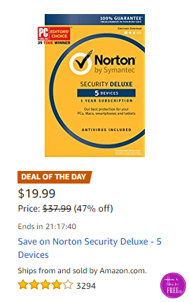 47% OFF Norton Security Deluxe for 5 Devices! Only $19.99!