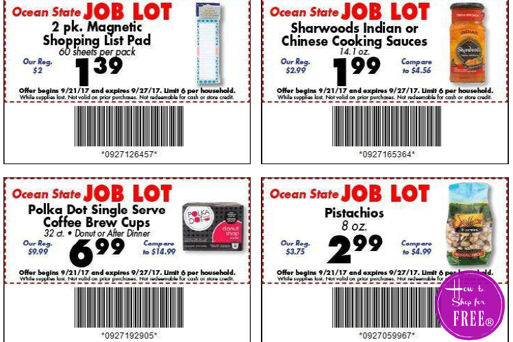 EARLY Job Lot Store Coupons+Matchups!