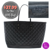 Wow! BCBG Quilted Tote Handbag 81% OFF!!