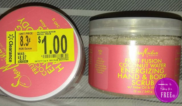 $1 OVERAGE on Shea Moisture Scrub at Walmart!!