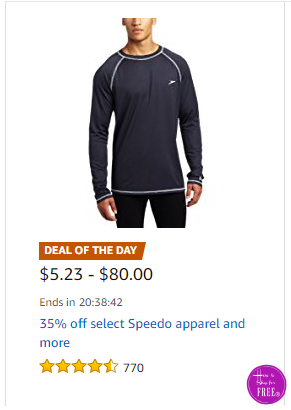 35% off Speedo Apparel & More ~Deal of the Day
