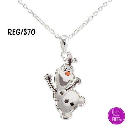 $12.99 Frozen Olaf Pendant, Today Only! Great Kid's Gift!