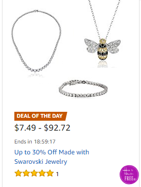Up to 30% Off~ Made with Swarovski Jewelry