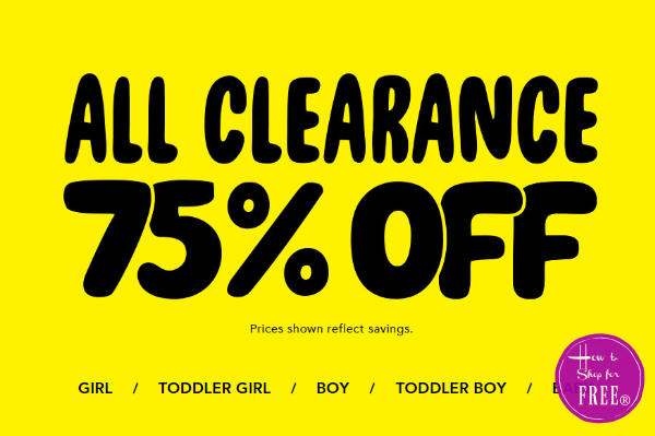 The Children's Place 75% OFF Clearance~ As low as $1.24!