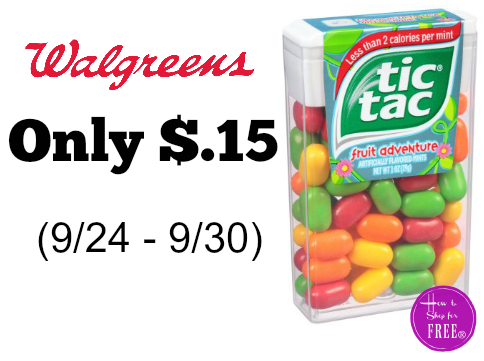 Tic Tac Mints Only $.15 at Walgreen's