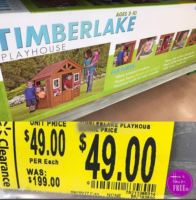 75% OFF Wooden Playhouse!!