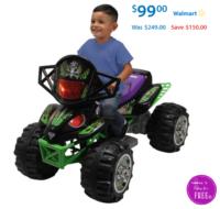 Over 50% Off Monster Jam Grave Digger Quad 12-Volt Battery Powered Ride-On at Walmart