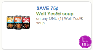 $.75/1 Well Yes! Soup ~ Coupon Re-issued!