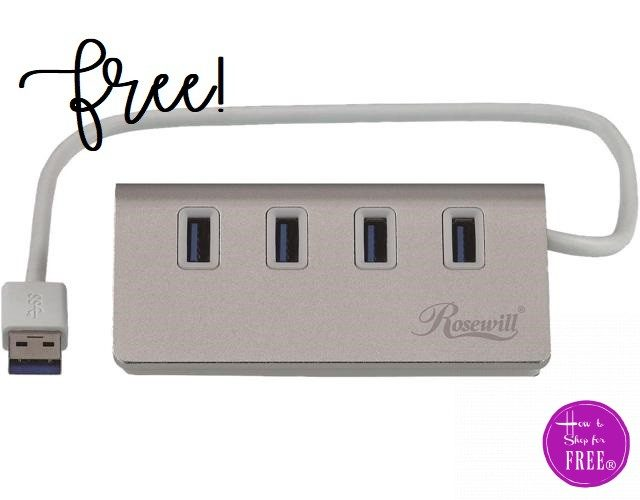 FREE Rosewill 4 Ports USB 3.0 Hub! ($25 Value)
