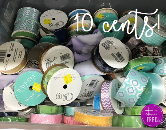 Crafters, Grab 10¢ Ribbon at Walmart!!!