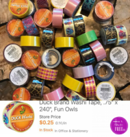 25¢ DUCK brand Washi Tape! Use for Decor, Crafts & more!