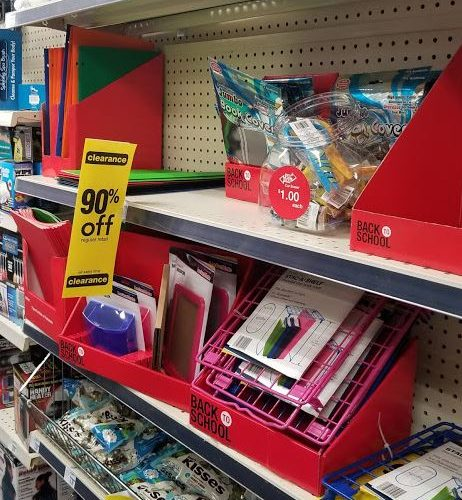 CLEARANCE – 90% off Back to School at CVS!