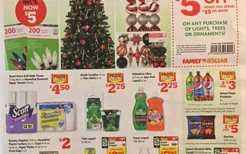 family dollar ad scan - Family Dollar Christmas Decorations