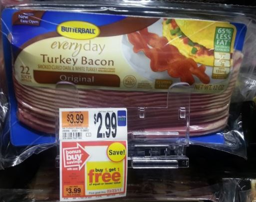 Butterball Turkey Bacon ONLY 40¢ at Stop & Shop 11/03 ~ 11/09!