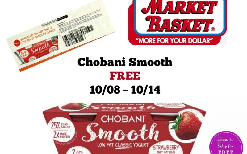 Chobani Smooth FREE at Market Basket 10/08 ~ 10/14!