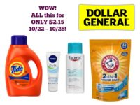 WOW! ALL this for ONLY $2.15 at Dollar General 10/22 ~ 10/28!
