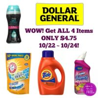 Get All This for ONLY $4.75 at Dollar General 10/22 ~ 10/24!