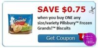 **HOT** NEW Printable Coupon ~ .75/1 Pillsbury Frozen Grands! Biscuits
