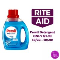 Persil Detergent ONLY $1.99 at Rite Aid 10/22 ~ 10/28!