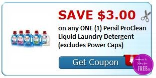 **HOT** NEW Printable Coupon $3.00/1 Persil Laundry Detergent