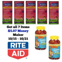 Get ALL 7 Items at Rite Aid - $5.07 Money Maker 10/15 ~ 10/22!