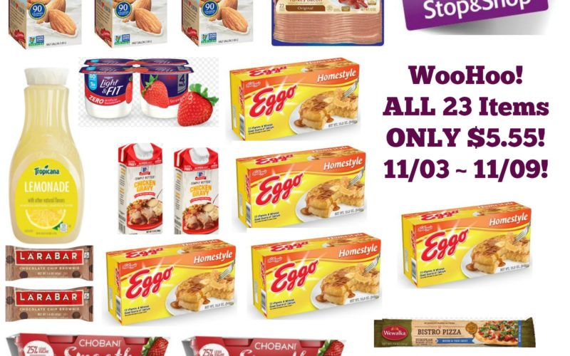 **WooHoo** All 23 Items ONLY $5.55 at Stop & Shop 11/03 ~ 11/09!