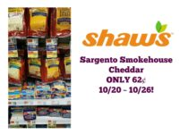 Sargento Smokehouse Cheddar ONLY 62¢ at Shaw's 10/20 ~ 10/26!