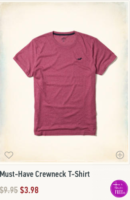 Hollister Clearance guys clothes starting at $3.98