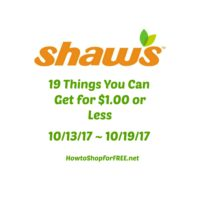 19 Things You Can Get for $1.00 or Less at Shaw's 10/13 ~ 10/19!