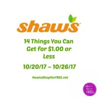 14 Things You Can Get for $1.00 or Less at Shaw's 10/20 ~ 10/26!