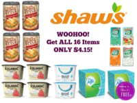 Woohoo! Get ALL 16 Items ONLY $4.15 at Shaw's 10/20 ~ 10/26!