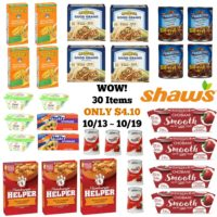 **WOOHOO** Get ALL 30 Item ONLY $4.10 at Shaw's 10/13 ~ 10/19!!