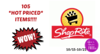 102 HOT Priced Products at Shop Rite to Grab this Week!!!  (10/15- 10/21 )