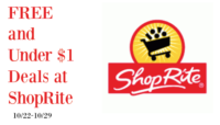 FREE or Under $1 Deals at Shop Rite (10/22-10/28)