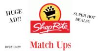 UPDATE!!! ShopRite Match-Ups 10/22-10/29