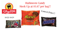 Halloween Candy ONLY $1.07 at ShopRite (10/22-10/29)