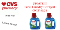 HOT UPDATE!!! NEW $3 Persil Printable – ONLY $0.24 at CVS (10/22-10/29)